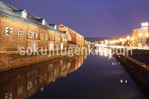 夜のライトアップもきれいな函館の街