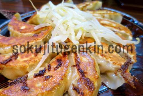 名物の浜松餃子はもやしが乗っかっているから食べやすい