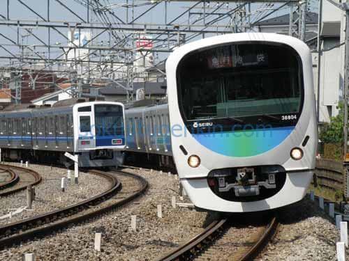 大宮駅に向け電車で出発進行!